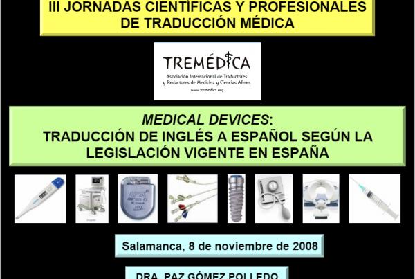 III Jornadas Científicas y Profesionales de Traducción Médica_Salamanca_2008